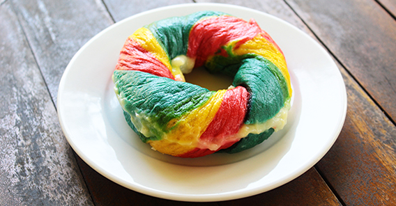 Klappertaart Rainbow Bagel